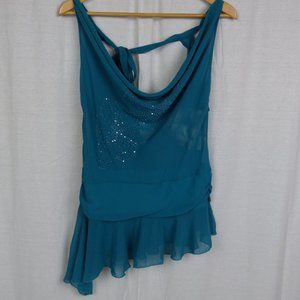 NWT Rampage Women's Sleeveless Sequin Front Shirt